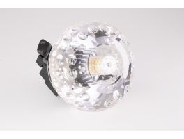 Orbis Terra (Gold) Fire Rated Crystal Fixture (G9 Bulb Compatible)