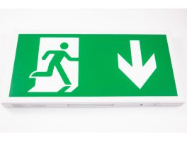 LED Emergency Exit Sign - Mounted (Maintained/Non-Maintained)