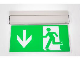 Double Sided LED Emergency Exit Sign - Mounted (3Hr Maintained/Non-Maintained)