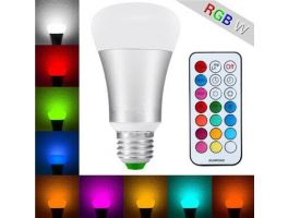 10W LED B22/E27 RGBW bulb w/ Remote Control